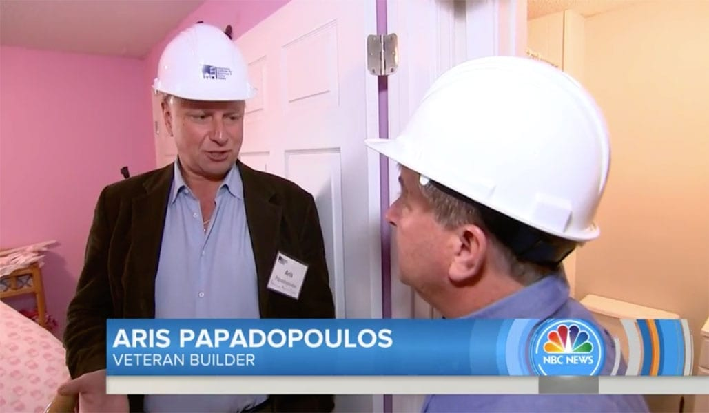 Resilience Action Fund (RAF) founder and construction industry veteran Aris Papadopoulos spoke to Kerry Sanders on NBC's 'Today Show'.